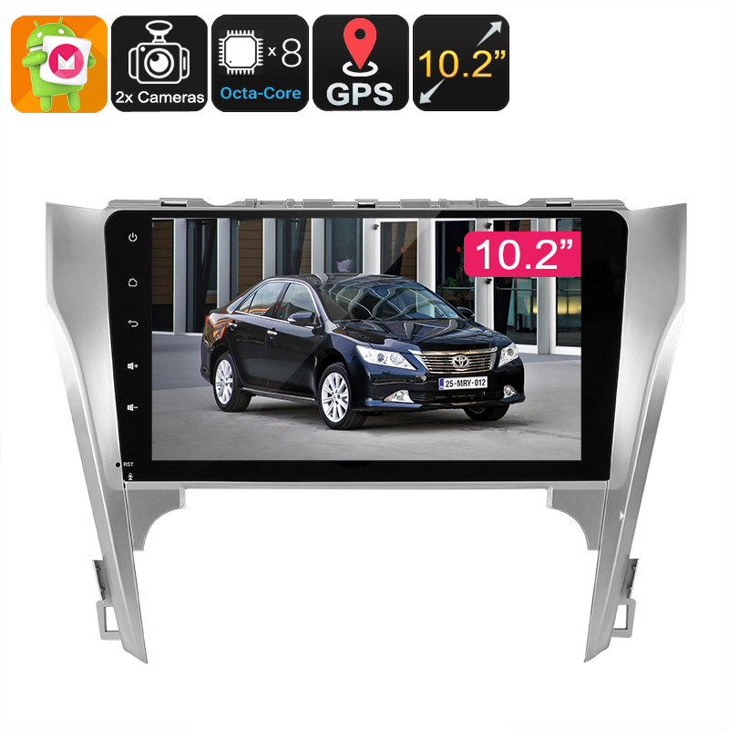 2 DIN Car Media Player - For Toyota Camry, 10.2- Inch, Bluetooth, WiFi, 3G, GPS Navigation, CAN BUS, Google Play