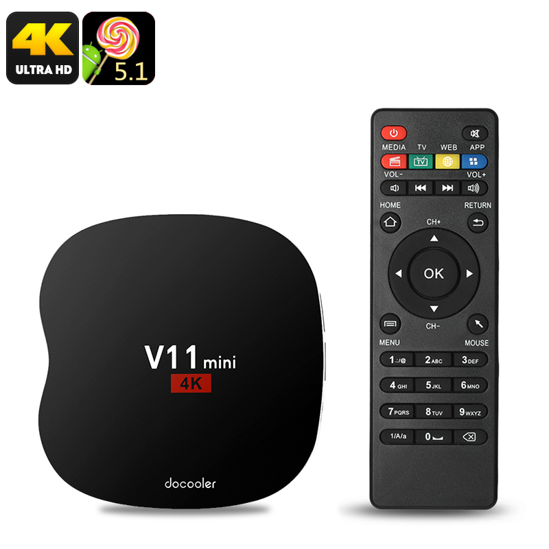 COOWELL V11 Mini Android TV Box - Android 5.1, Quad-Core CPU, 4K Support, 3D Movie Support, WiFi, Google Play, Kodi TV