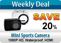 1080P HD Mini Sports Camera with 1.5 Inch Screen and Waterproof Design