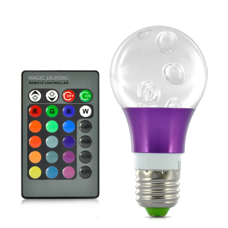 (M) 3W LED RGB Bulb Light (M)