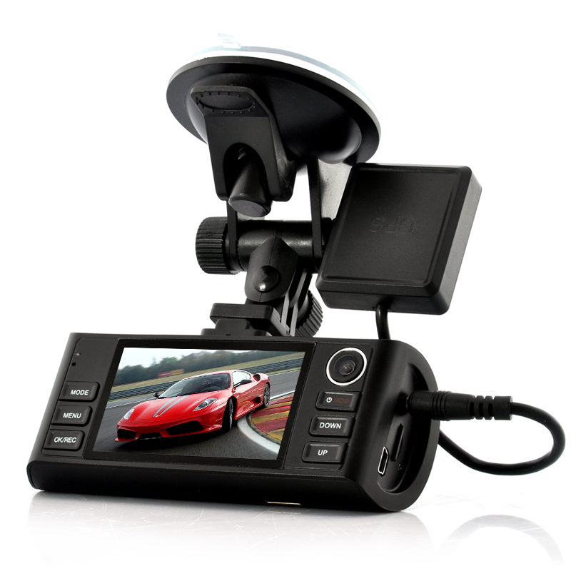 (M) HD Dual-Camera Car DVR + GPS Log - Napravlja (M)