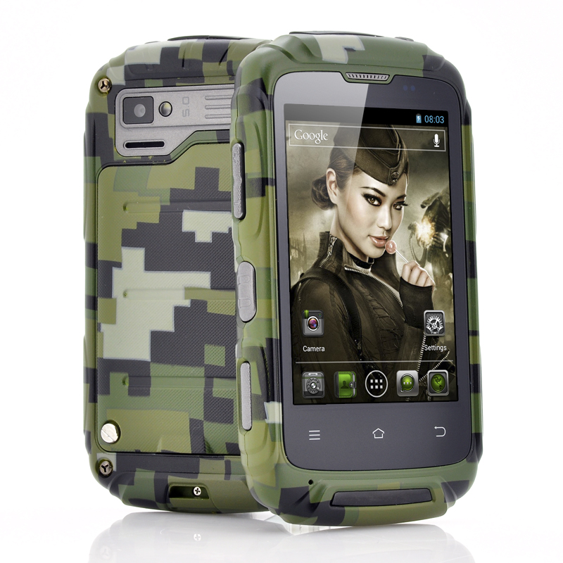 Cvasion Ruggedized Military Themed 3.5 Inch Android Phone