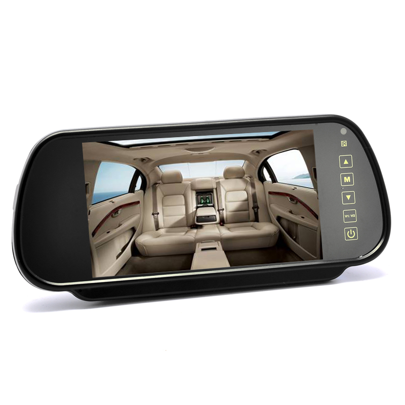 (M) 7 Inch Mirror Monitor w/ Touch Buttons (M)