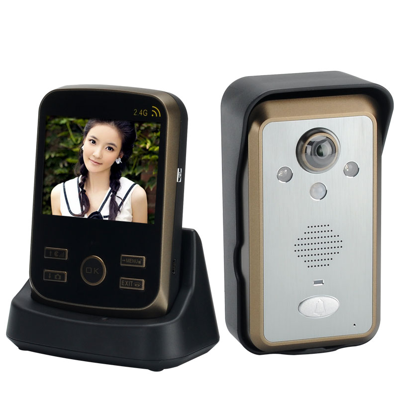 Wireless Door Intercom 'SafeGuard II'- 3.5 Inch TFT LCD Screen, PIR Motion Detector, IP55 Waterproof, 300m Range, 1/4 Inch CMOS