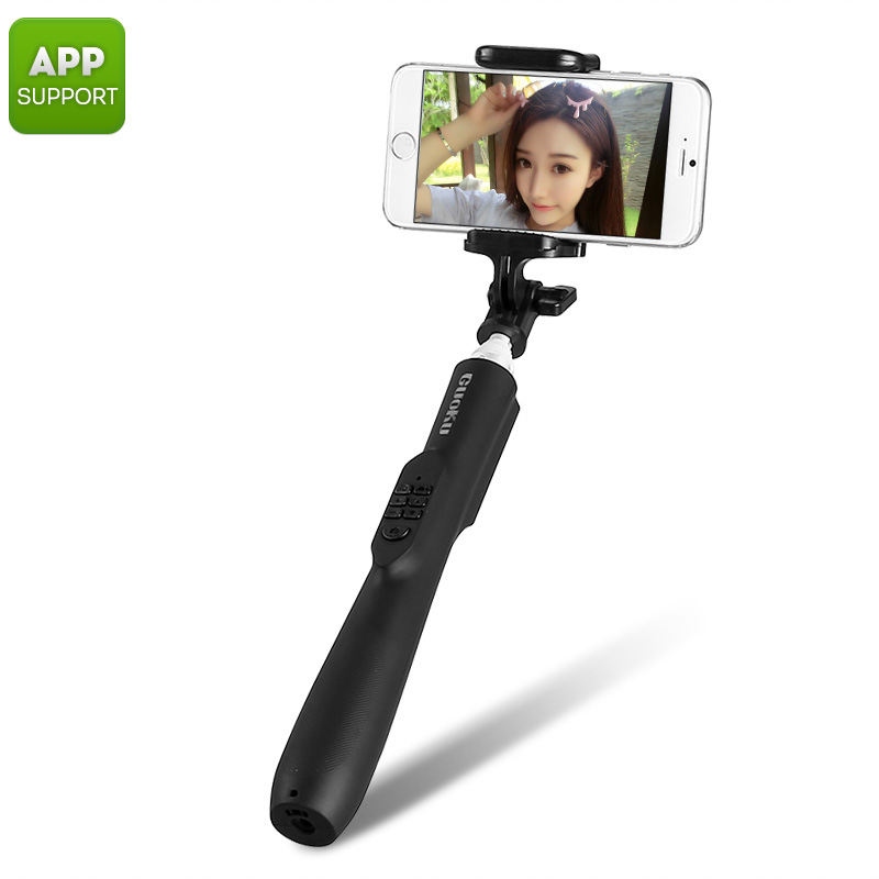 Automatic Selfie Stick - Bluetooth 3.0, Aluminum Alloy Body, 450mAh Battery, App Support, iOS And Android Support