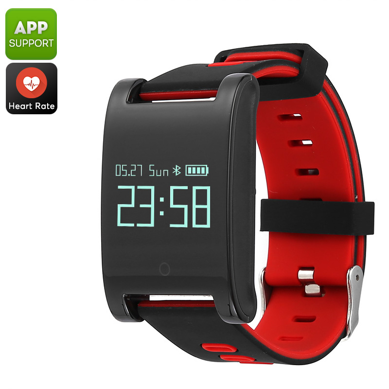 Domino DM68 Bluetooth Smart Bracelet - Blood Pressure, Heart Rate, Pedometer, Distance Tracker, Calorie Counter, Sleep Monitor