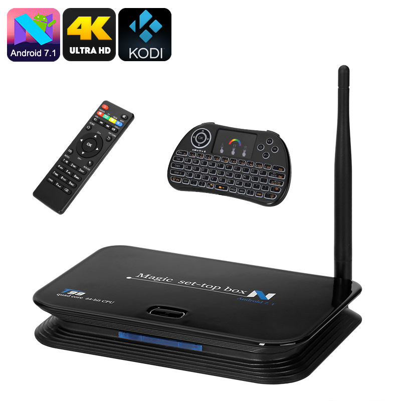 MXR Android TV Box - Android OS, 4K Resolutions, 4 USB 2 0