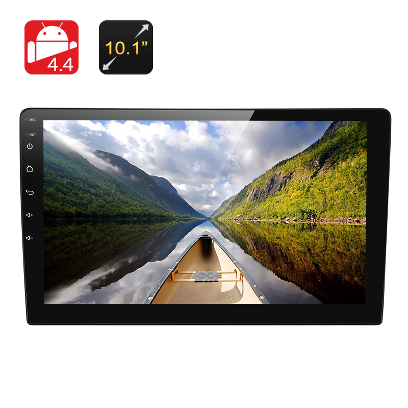 1 DIN Android 6.0 Car Media Player - 10.1 Inch Display, Touch Screen, GPS, Bluetooth, 3G, Google Play, Quad-Core CPU