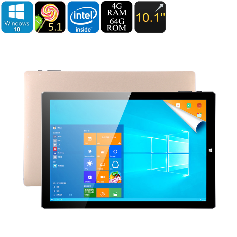 Teclast Tbook 10 S Tablet PC - Win 10 + Android 5.1 OS, Intel Atmo Z8350 CPU, 4GB RAM, 64GB Memory, 10.1 Inch IPS Screen