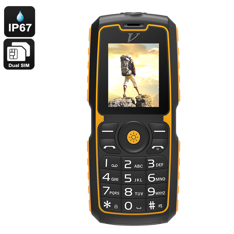 Rugged Cell Phone - IP67 Waterproof, Bluetooth, Dual-IMEI, Flashlight, Power Bank Feature, 13000mAh Battery