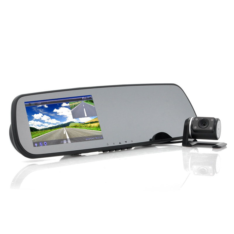 (M) Car Rear View Mirror + Parking Camera Combo (M)