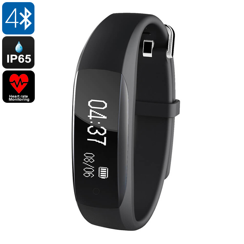 Fitness Tracker Lenovo HW01- Bluetooth 4.2, Heart Rate Monitor, Sleep Monitor, Pedometer, Call Reminder, IP65, 0.91 Inch OLED