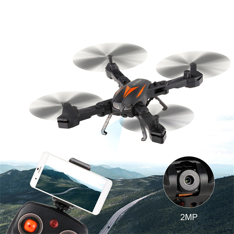 Florld F12-W Camera Drone - 2MP Camera, WiFi, FPV, App Support, Air Pressure Altitude Hold, Headless Mode, Remote Controller