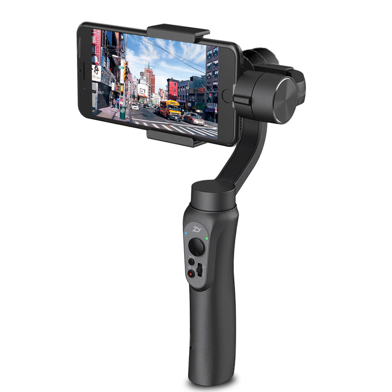 Zhiyun Smooth-Q Handheld Smartphone Gimbal - 3-Axis, Built-in Battery, Light Weight, Simple Design, App Support
