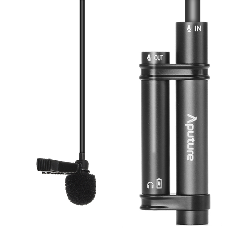 Aputure A.lav Omnidirectional Lavalier Microphone - 3.5mm Output, Built in Battery, 200 Hour Usage Time