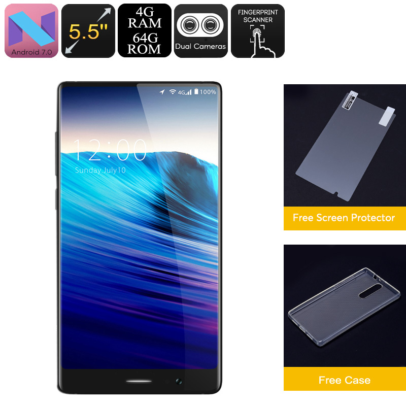 HK Warehouse UMIDIGI Crystal Android Phone - Android 7.0, Octa-Core, 4GB RAM, 5.5-Inch FHD, Metal Body, 4G, Dual-IMEI