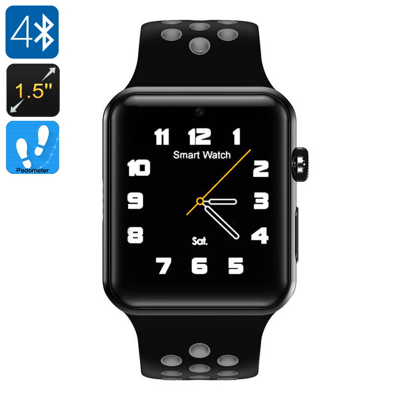 DM09 Plus Smart Watch Phone - Bluetooth 4.0, 1.5-Inch OLED Display, 1 IMEI, SMS, Calls, Social Media Notifications, Pedometer