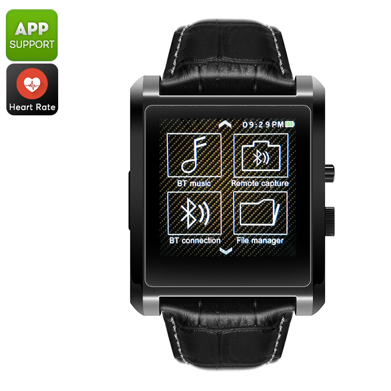 Domino DM68 Bluetooth Watch - Heart Rate Monitor, Pedometer, Sedentary Reminder, Sleep Monitor, APP, Bluetooth 4.0 (Black)