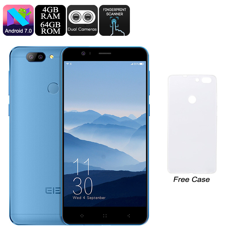 HK Warehouse Elephone P8 Mini Android Phone - Android 7.0, Octa-Core CPU, 4GB RAM, Dual-IMEI, 5-Inch FHD, 13MP Dual-Cam (Blue)