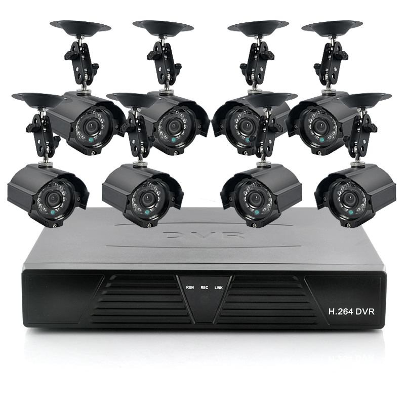(M) Surveillance Kit w/ 8 Camera + 1TB DVR (M)