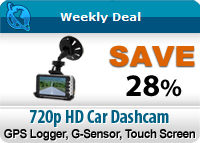 720p HD Car Dashcam with GPS Logger, G-Sensor, 3 Inch Touch Screen, SIM Card Slot w/ Phone Call + MMS