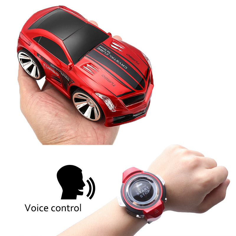 Voice Control RC Car - 2.4G Wireless Watch Control, English Voice Commands, 20m Range, 250mAh Battery, Cool And Fast Design