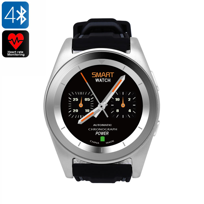 No.1 G6 Sports Watch - Bluetooth 4.0, Pedometer, Sleep Monitor, Sedentary Reminder, Heart Rate Monitor, APP (Silver TPU)