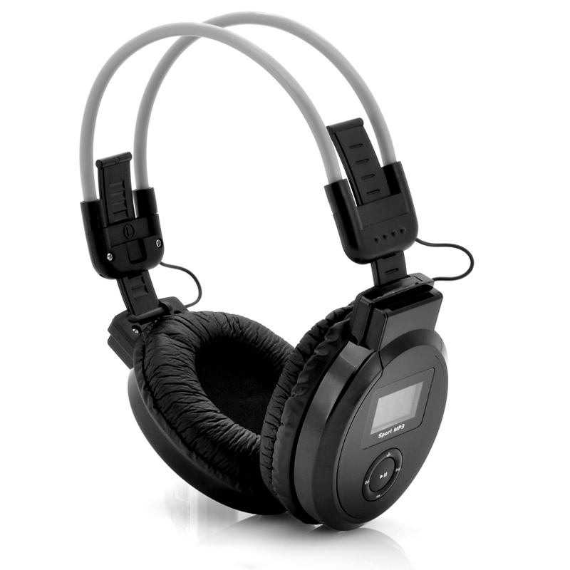(M) Folding Headphone w/ MP3 Player + FM Radio (M)