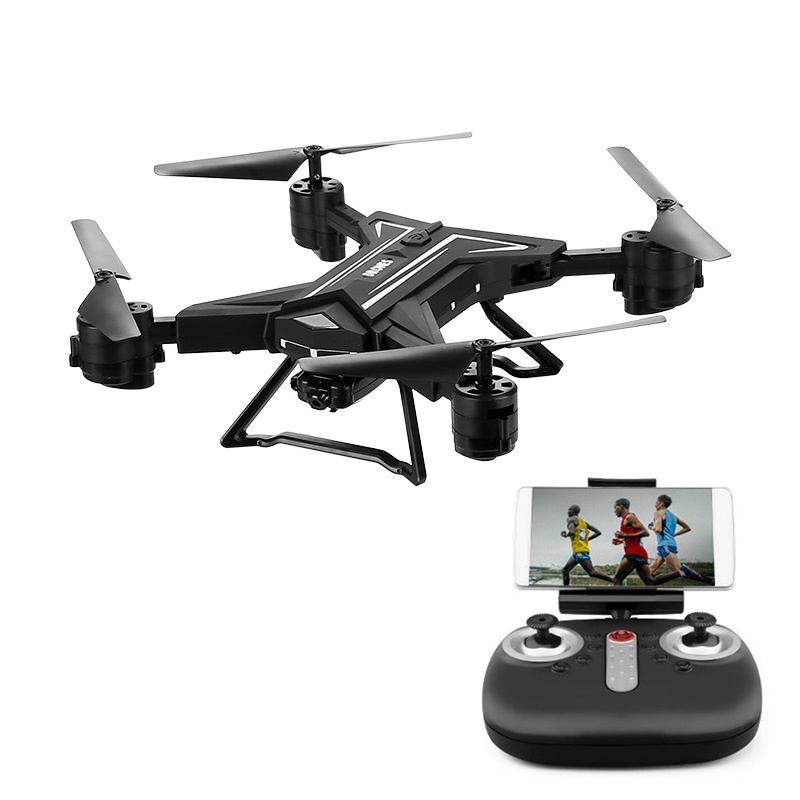 Foldable Camera Drone - 0.3MP Camera, 680mAh Battery, Remote Control, WiFi, 3D Flip, Headless Flight Mode, 3 Flight Speeds, App