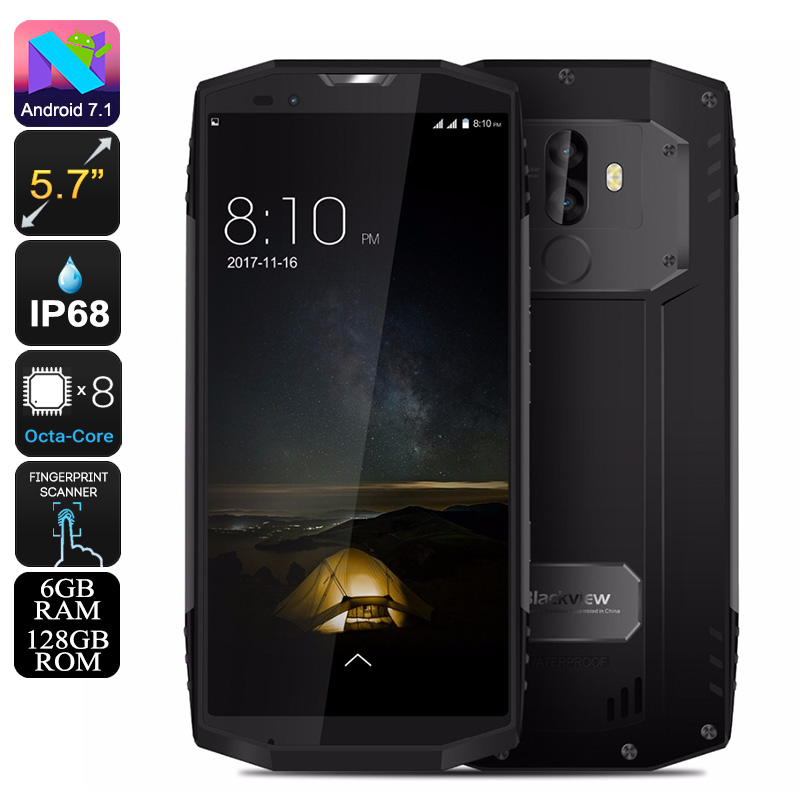 HK Warehouse Blackview BV9000 Pro Rugged Phone - Octa-Core CPU, 6GB RAM, Android 7.1, IP68, 4180mAh, 13MP Cam (Grey)