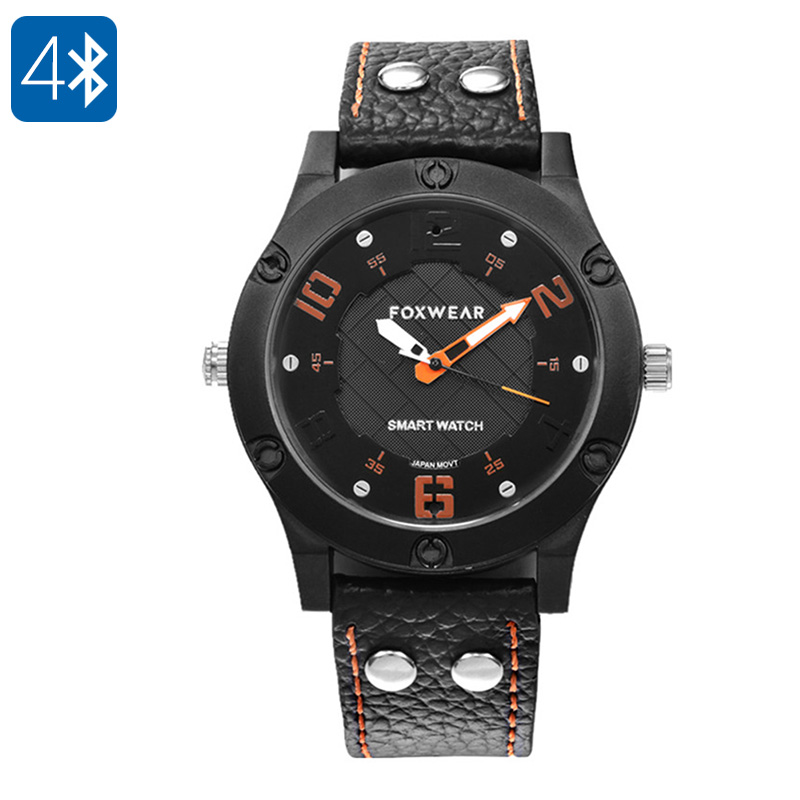 Foxwear F28 Bluetooth Watch - Bluetooth 4.0, IP67, Pedometer, Calorie Counter, Sleep Monitor, Call And Message Reminder