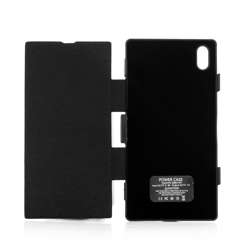 (M) 3200mAh Battery Flip Case For Sony Xperia Z1 (M)