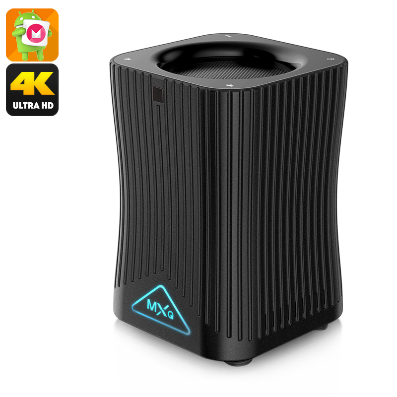 MXQ HF10 S905X TV Box - 4K Support, Android 6.0, Alexa Voice Control, Quad-Core CPU, 128GB SD Card Support, Google Play, DLNA