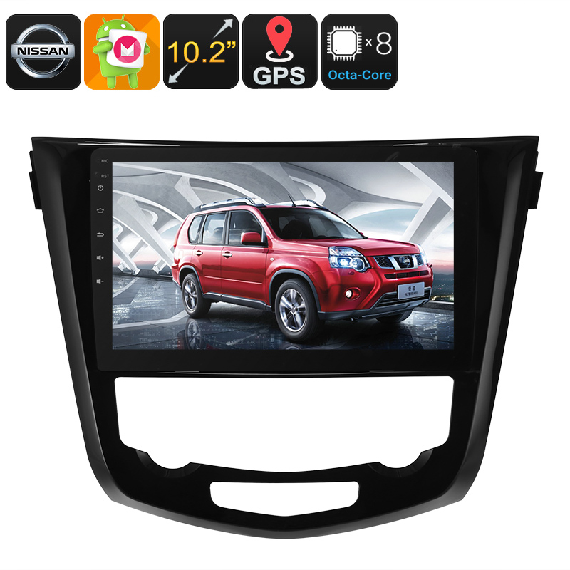 1 DIN Car Stereo - For Nissan X Trail, Android 6.0, Bluetooth, WiFi, 3G Dongle Support, GPS, CAN BUS, Octa-Core CPU, 4GB RAM
