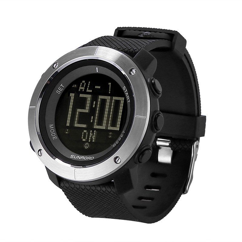 Sunroad FR1001 Outdoor Watch - Barometer, Altimeter, Thermometer, Compass, Backlit Display, 3ATM Waterproof, Alarm Clock