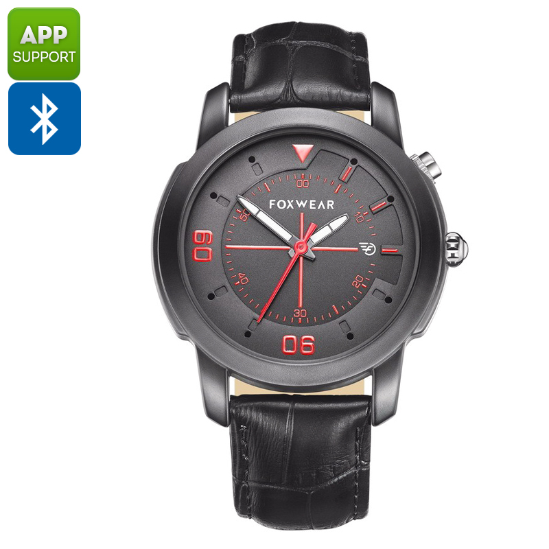 Foxwear Y22 Sports Watch - Bluetooth 4.0, Sleep Monitoring, Pedometer, Calories Burned, Swiss Ronda 751 (Black)