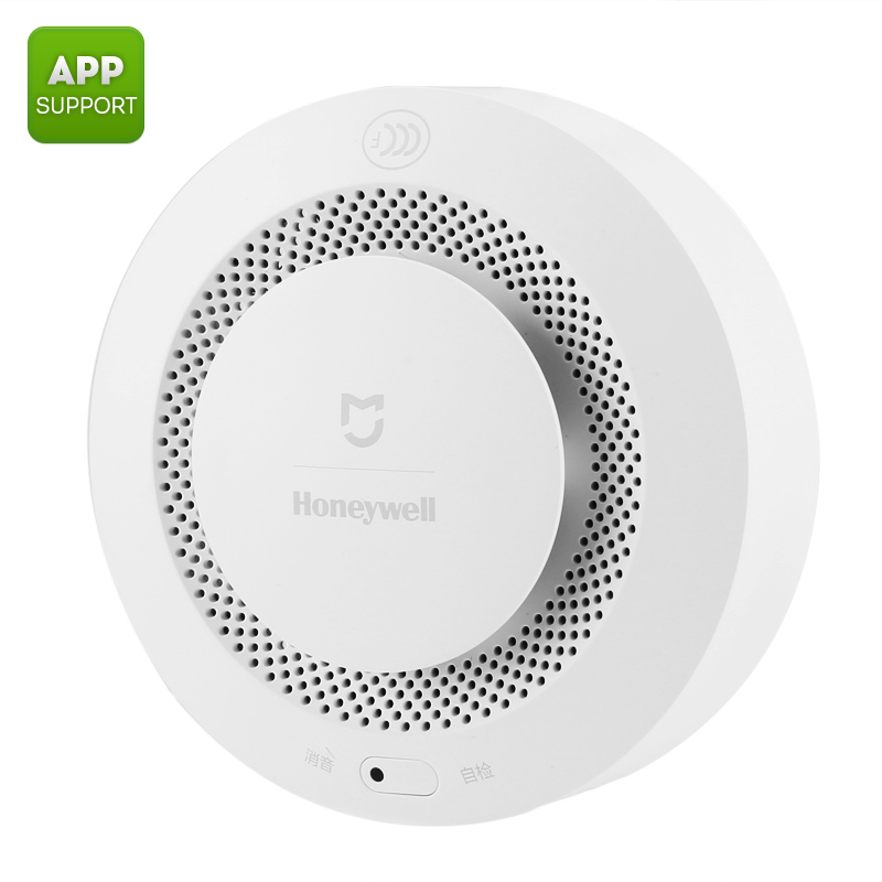 Xiaomi Mijia Honeywell Fire Alarm - Remote Notification, 80dB Alarm, Inspection Reminder, Compatible With Xiaomi Gateway