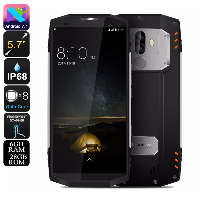 HK Warehouse Preorder Blackview BV9000 Pro Rugged Phone - 13MP Cam, 6GB RAM, Octa-Core CPU, IP68, Android 7.1, 4180mAh (Silver)