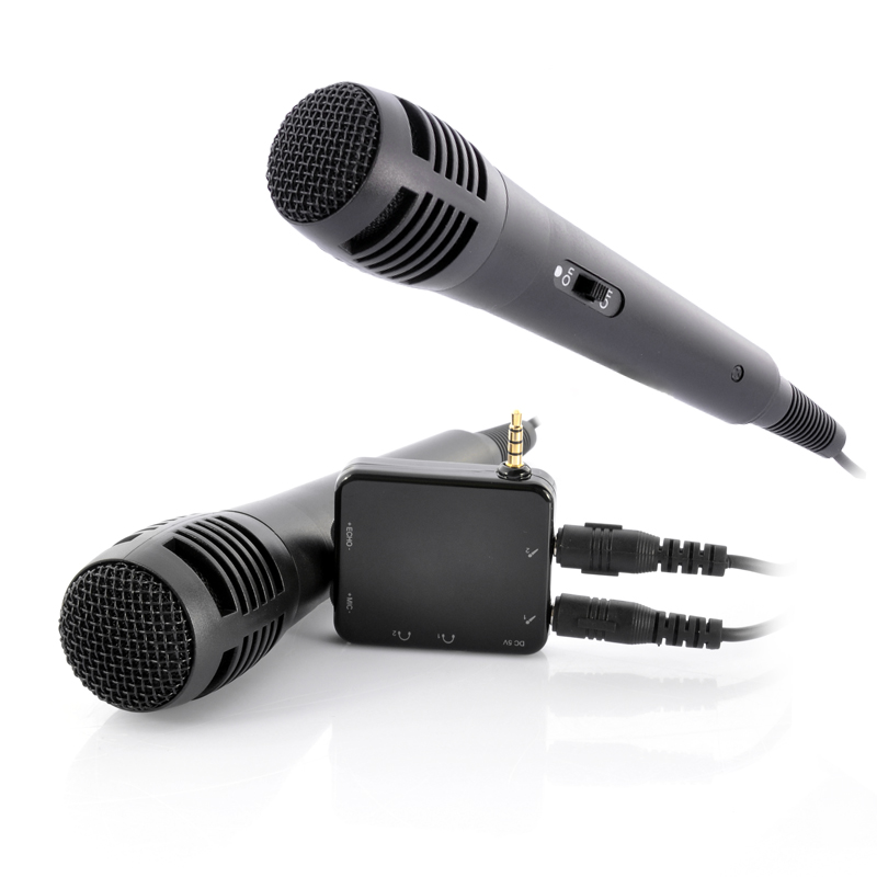(M) Portable Karaoke Player With 2 Microphones  (M)
