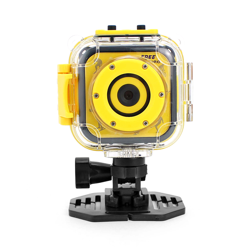 K1 Kids Action Camera - CMOS Sensor, 720p Video, 5MP Pictures, 80-Degree Lens, 1.77-Inch Display, 500mAh Battery, Time Stamp