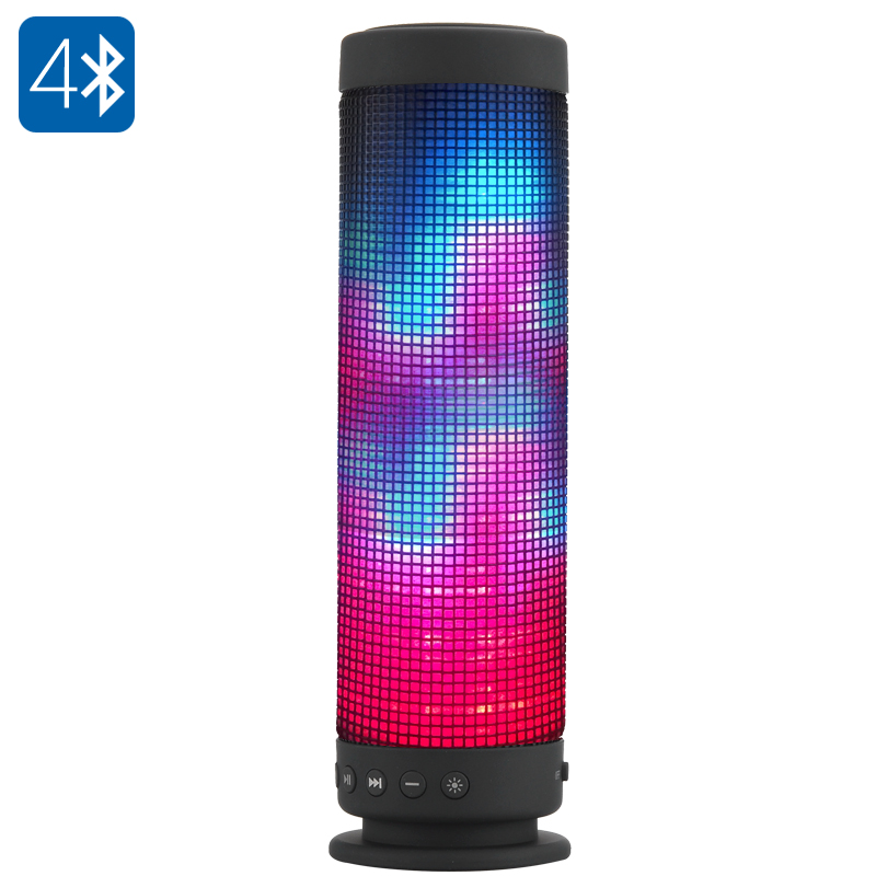 10 Watt Portable Bluetooth 4.0 Speaker - 360 Degree Sound, 88 LEDs, 5 Lighting F