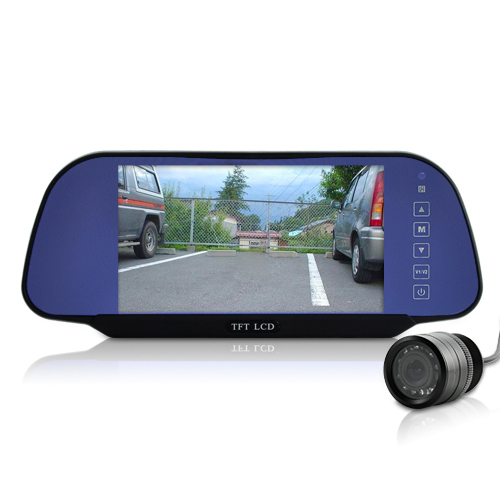 (M) 7 Inch Rear View Mirror + Rear View Camera (M)