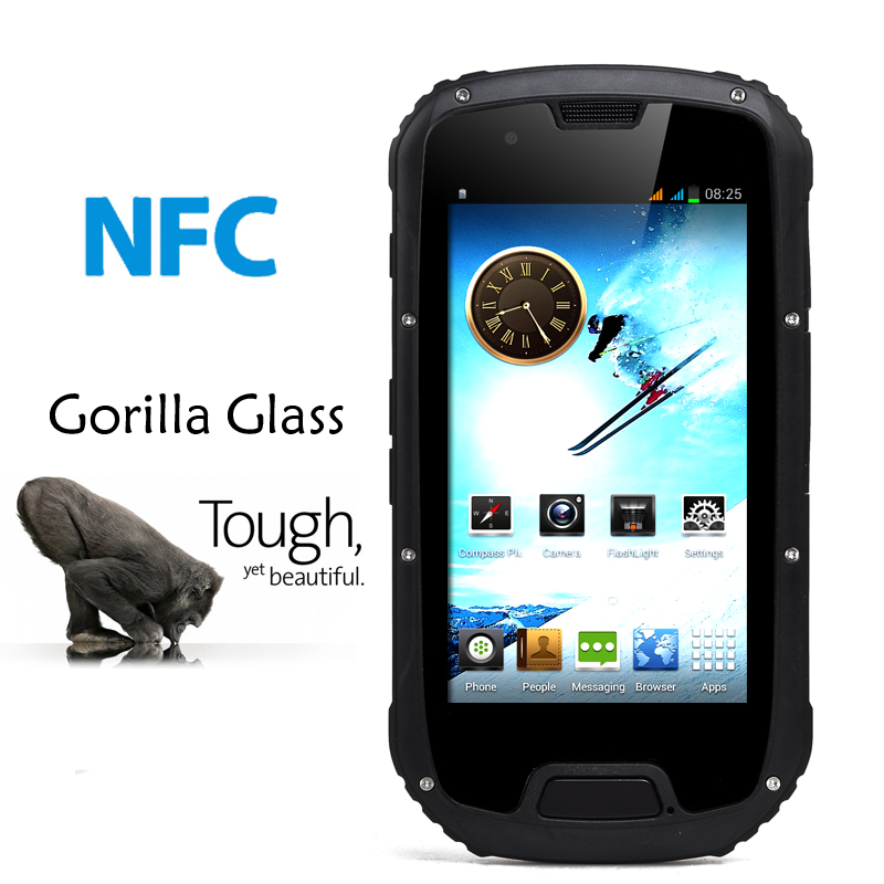 (M) Rugged 4.3 Inch Android Smartphone (Black) (M)