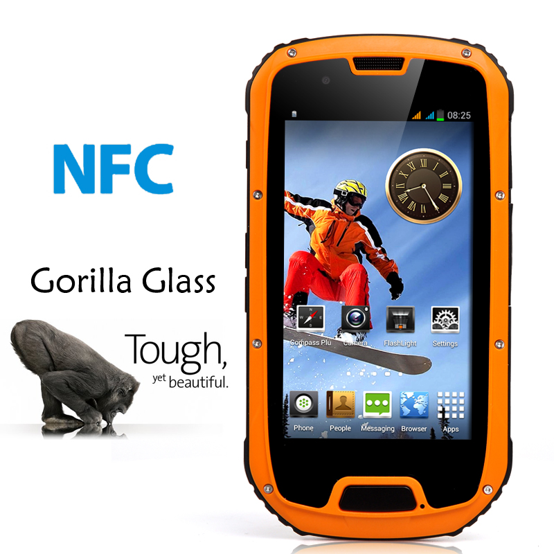 (M) Rugged 4.3 Inch Android Smartphone (Orange) (M)