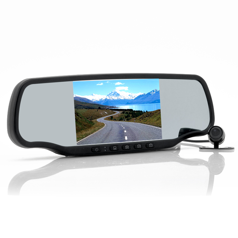(M) Car Rear View Mirror with Dashcam - Carmax (M)