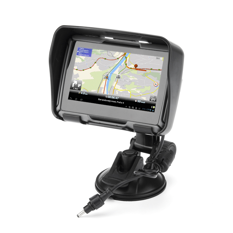 All Terrain 4.3 Inch Motorcycle GPS Navigation System