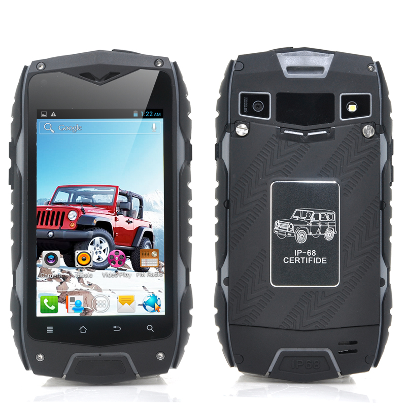 (M) Rugged 4 Inch Android 4.2 Phone (Black) (M)
