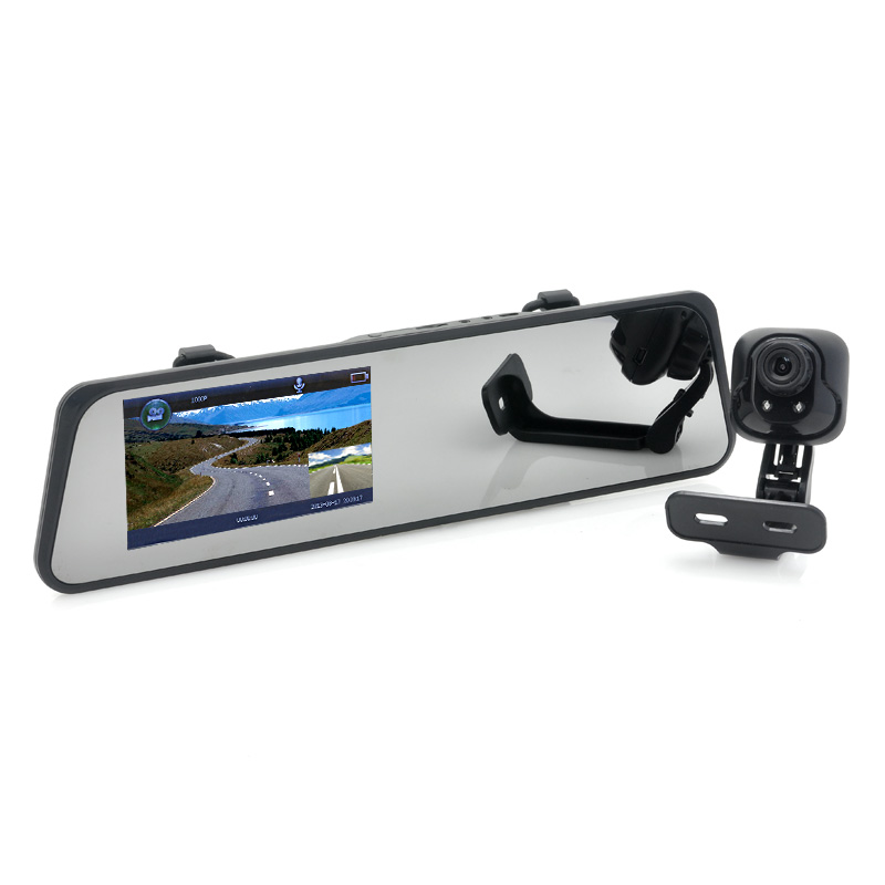 (M) Car Mirror Camcorder + Rear View Camera Combo (M)
