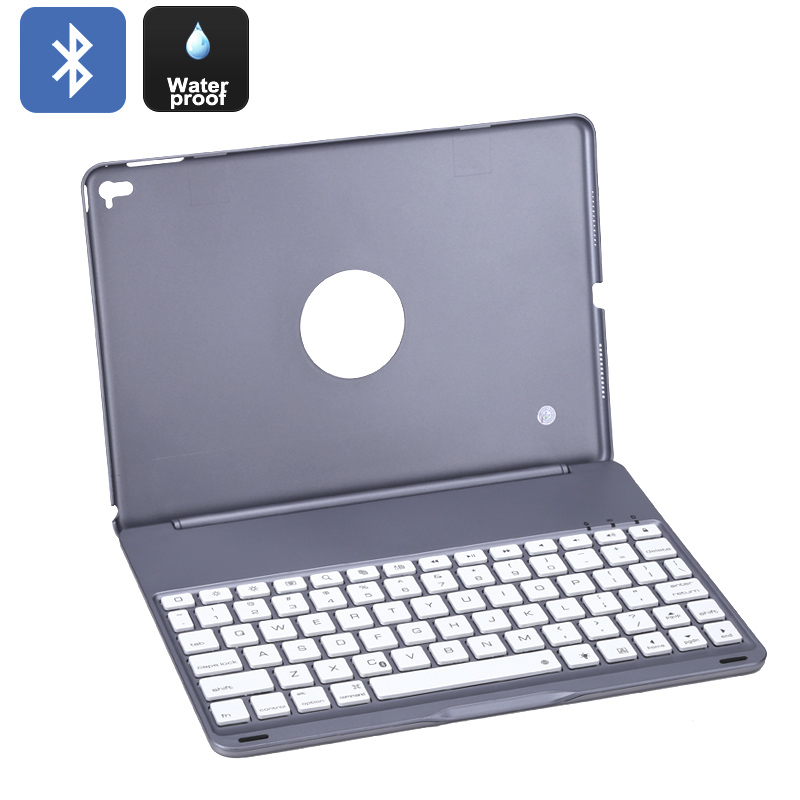 iPad Pro Portable Keyboard - Bluetooth, 7 Colors Keyboard Light, 100 Hours Battery Life, Light Weight, 10M Operating Distance