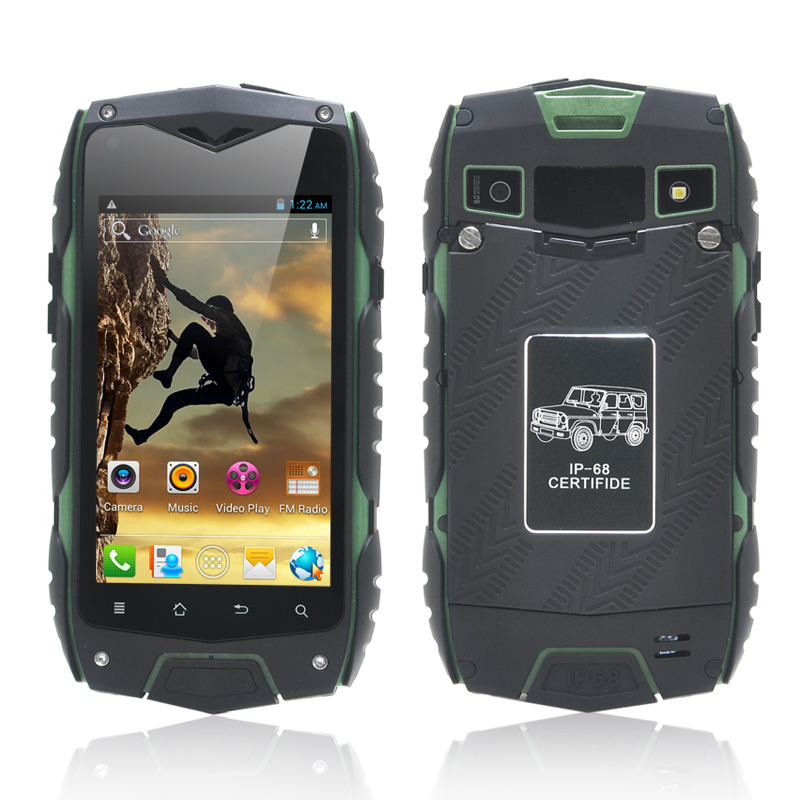 (M) Rugged 4 Inch Android 4.2 Phone (Green) (M)